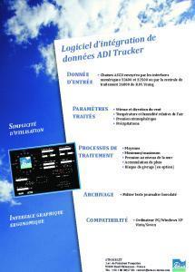 Logiciel ADI Tacker données météo