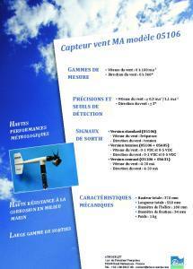 Capteur vent modèle marine 05106 YOUNG