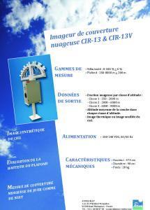 CIR-13 Imageur couverture nuageuse