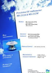MS-212A & MS-212W Precision UV Radiometers