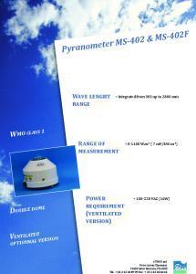 Pyranomètre