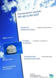 MS-402 Pyranomètre