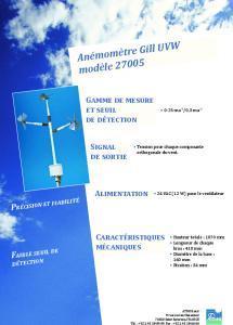 Anémomètre Gill UVW