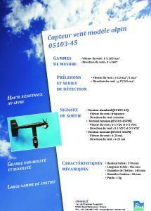 05103-45 Capteur vent modèle alpin