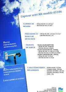 Capteur vent modèle marine 05106