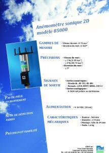 Anémomètre Sonique 2D