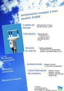 Anémomètre Sonique 2 axes ResponseONE®