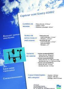 03002 Capteur vent Sentry