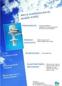 Abri ventilé RM Young ou Abri à Ventilation Forcée